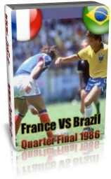 برزیل 1 - 1 فرانسه - یک چهارم 1986