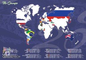 تیم های حاضر در جام جهانی 2014 و کاپیتان هایشان