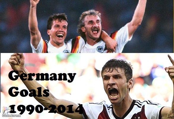 دانلود مستند تمامی گلهای تیم ملی آلمان از جام جهانی 1990 تا 2014