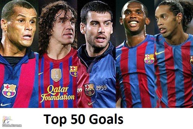 دانلود کلیپ 50 گل برتر تاریخ باشگاه بارسلونا از ابتدا تا سال 2014